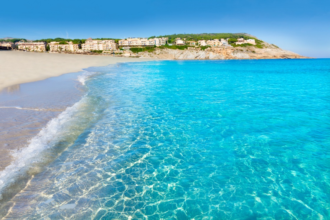 Majorca Cala Mesquida beach in Mallorca Balearic Islands of Spain